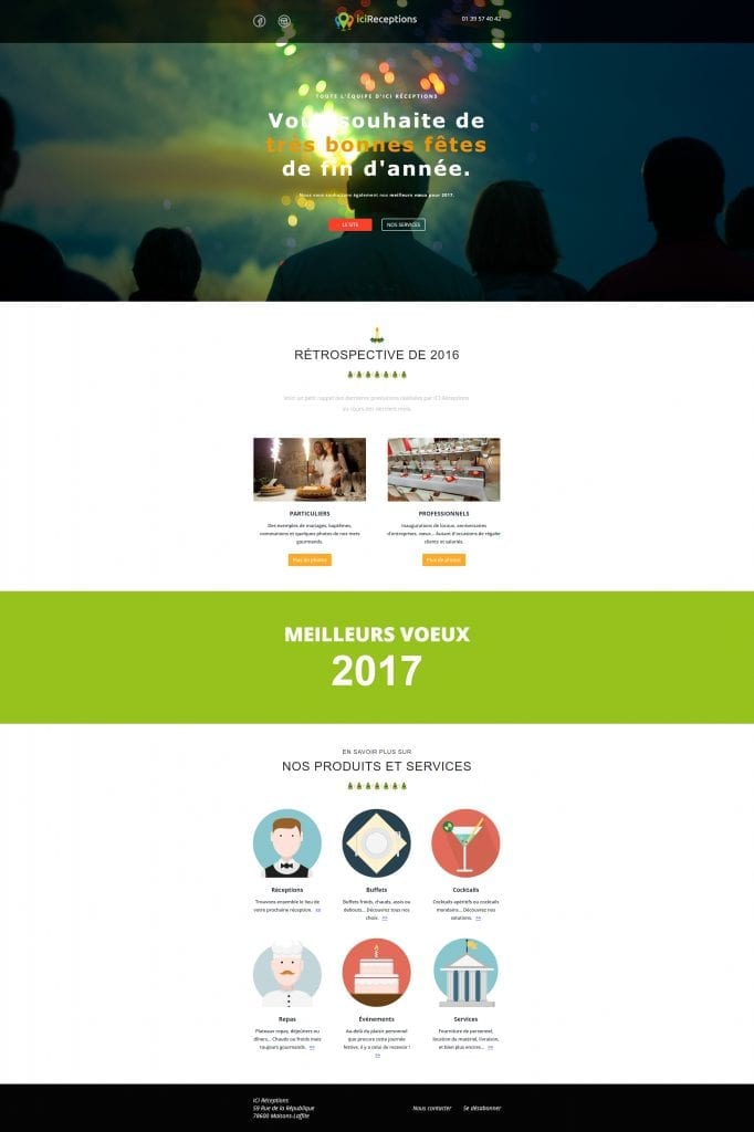 iciRéceptions - Campagne emailing vœux 2017